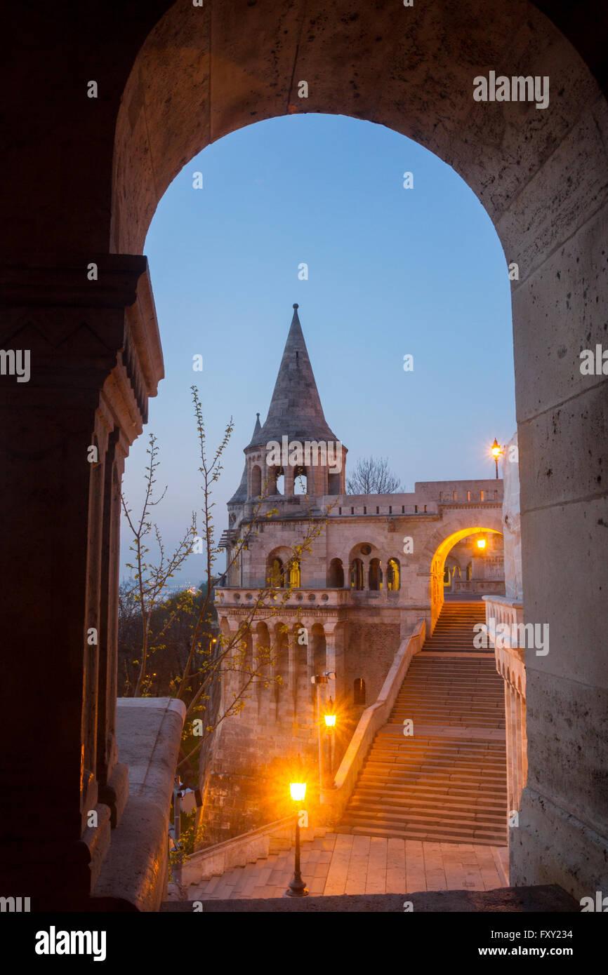 Fisherman's Bastion, Budapest, Hungary. - Stock Image