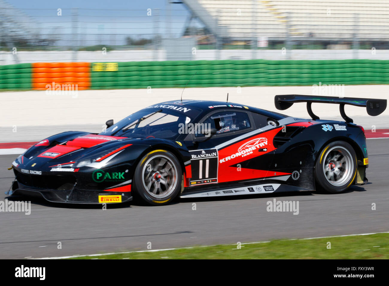 misano adriatico italy april 10 2016 ferrari 488 gt3 of kessel stock photo 102628675 alamy. Black Bedroom Furniture Sets. Home Design Ideas