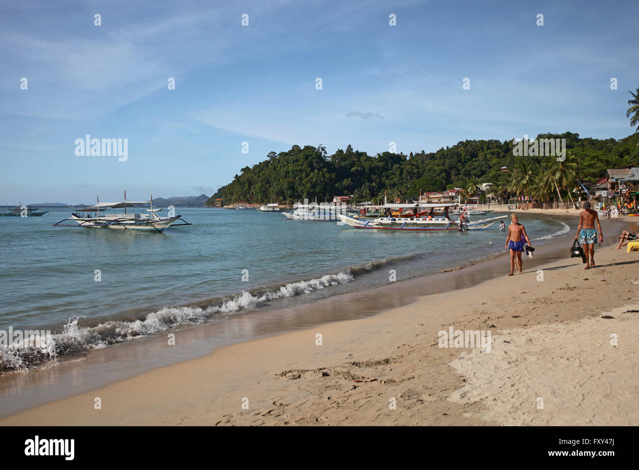ISLAND HOPPING JUKUNG BOATS EL NIDO PALAWAN PHILIPPINES 25 April 2015 - Stock Image
