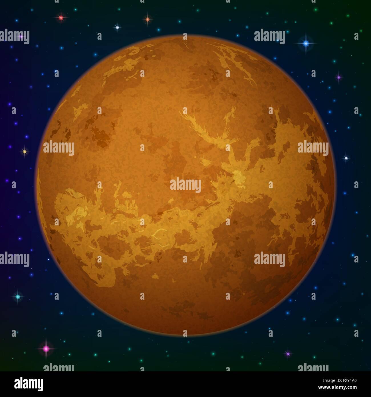 Planet Venus in space - Stock Image