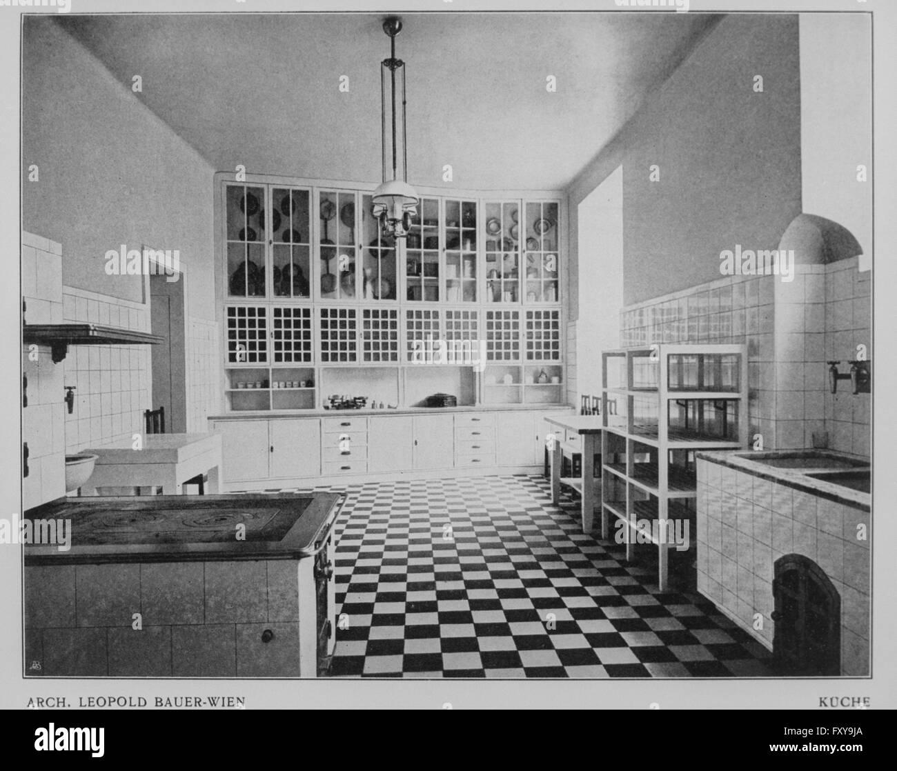 Küche nach Entwurf von Leopold Bauer - Stock Image
