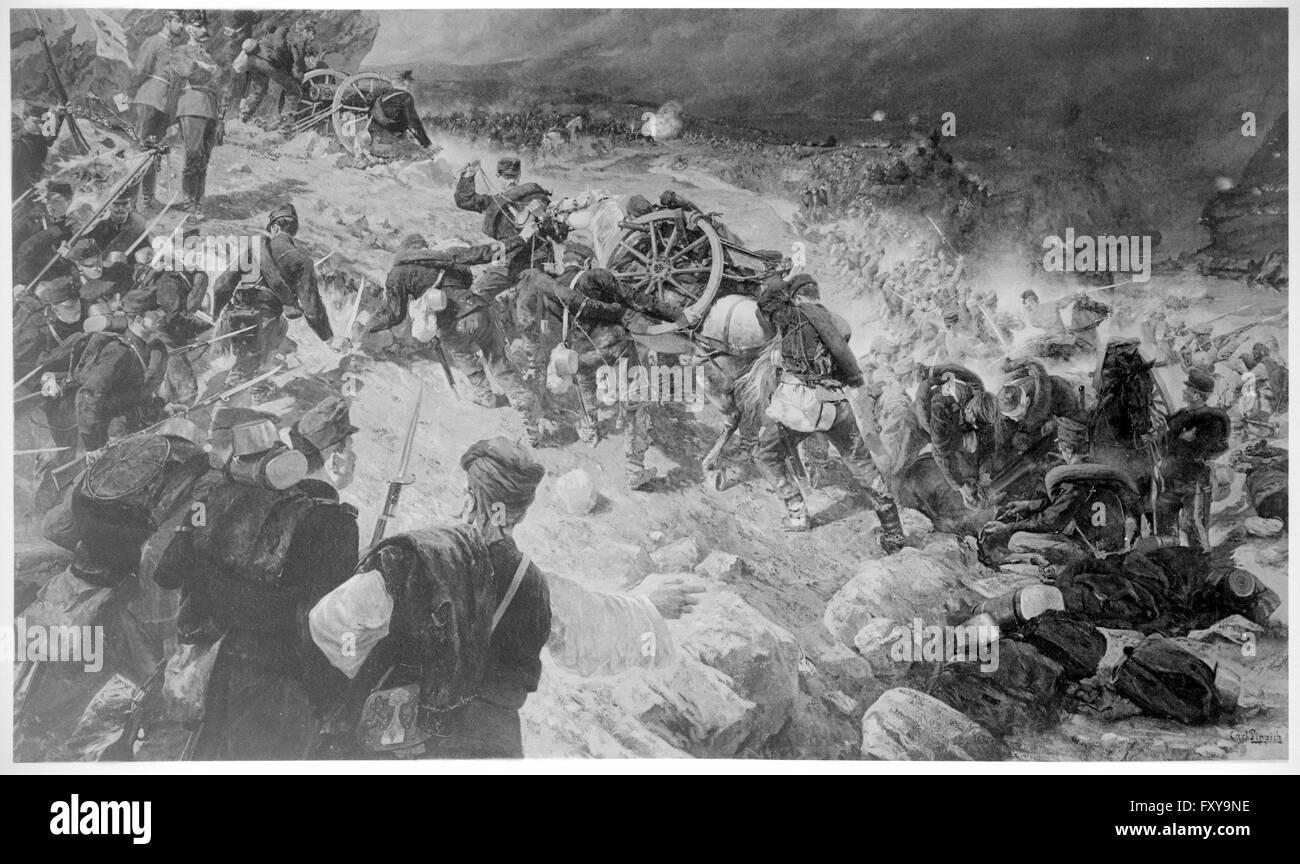 Gefecht bei Jaice 1878 - Stock Image