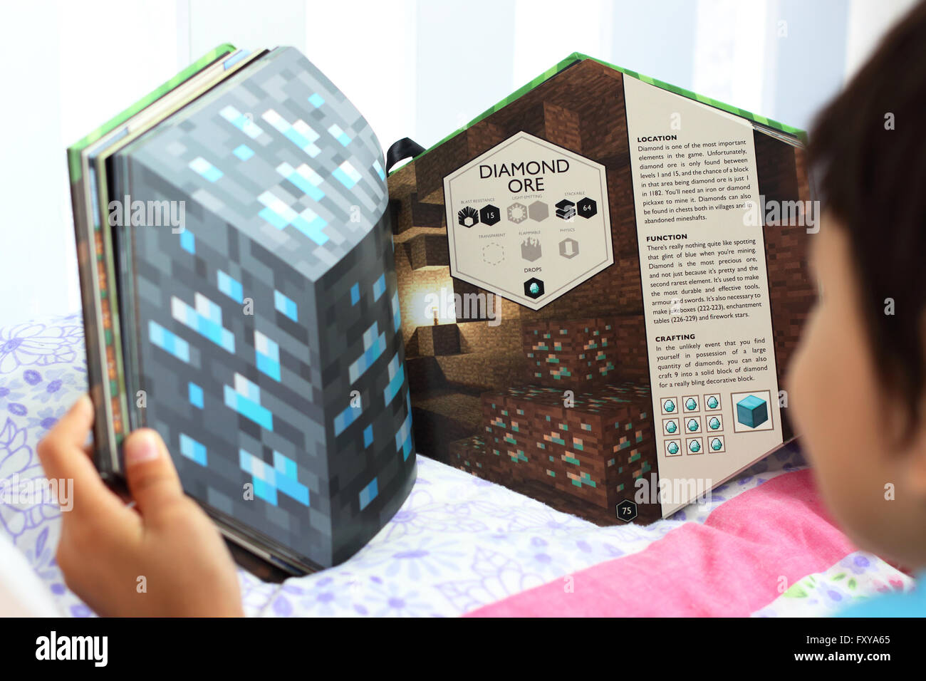 Young boy reading Minecraft book Stock Photo: 102633613 - Alamy