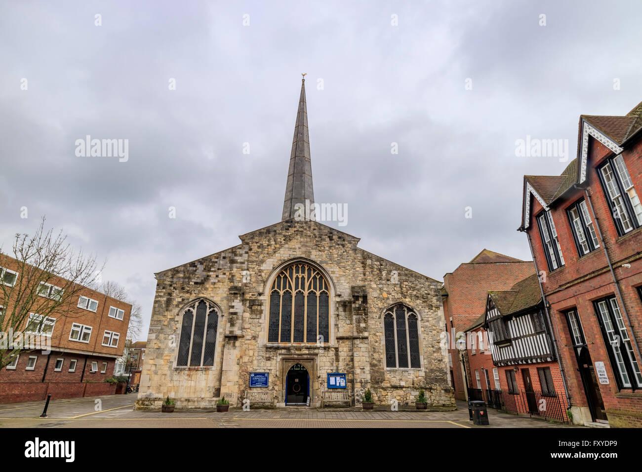 The historical Saint Michael's Church at Southampton, UK - Stock Image