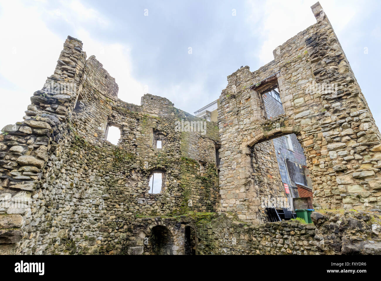 The old castle wall at Southampton, United Kingdom - Stock Image