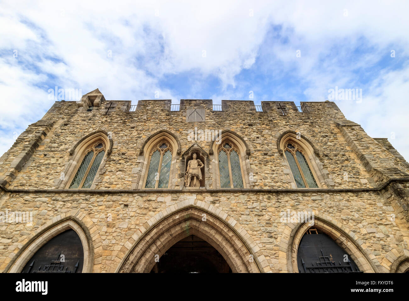 The famous historical building - Bargate at Southampton - Stock Image