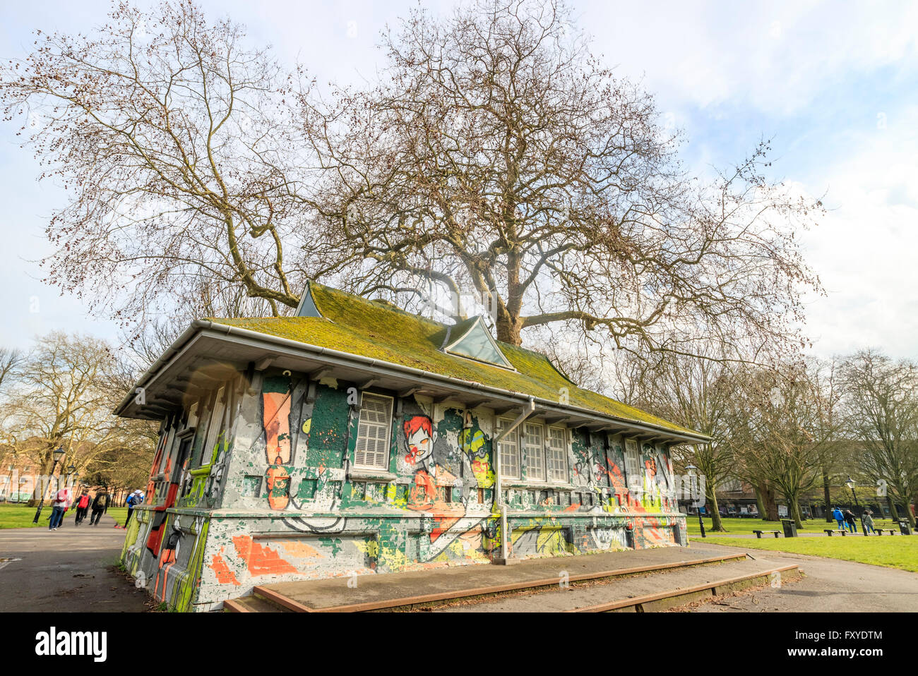 Houndwell Park in a sunny at Southampton, United Kingdom - Stock Image
