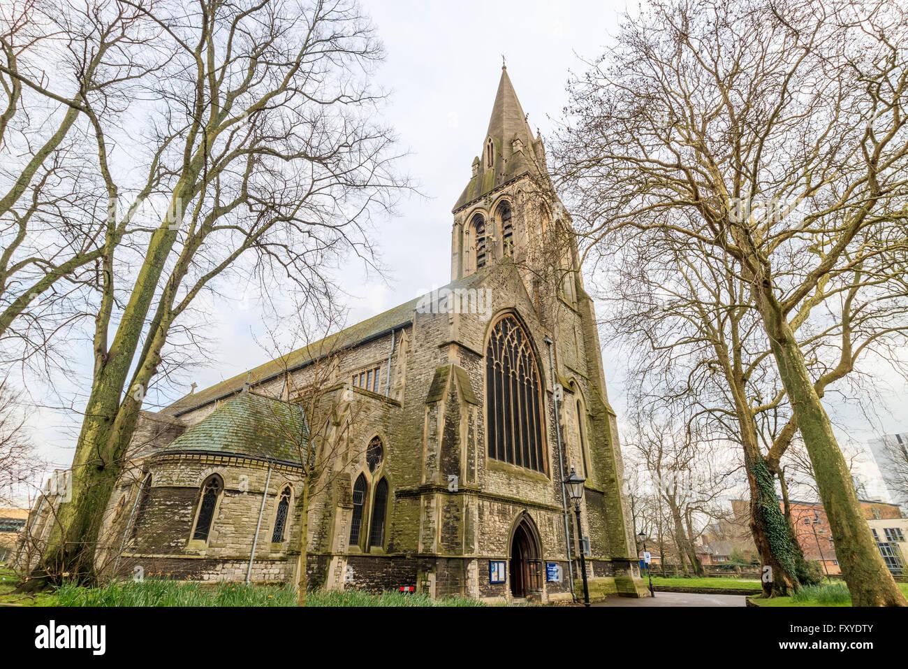 Beautiful and historical Saint Mary's Church at Southampton - Stock Image