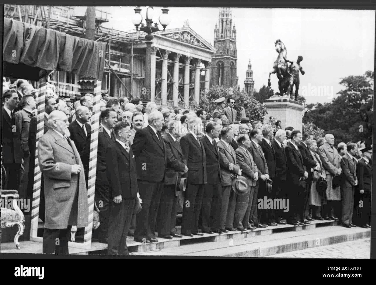100 Jahrfeier der österreichischen Gendarmerie - Stock Image