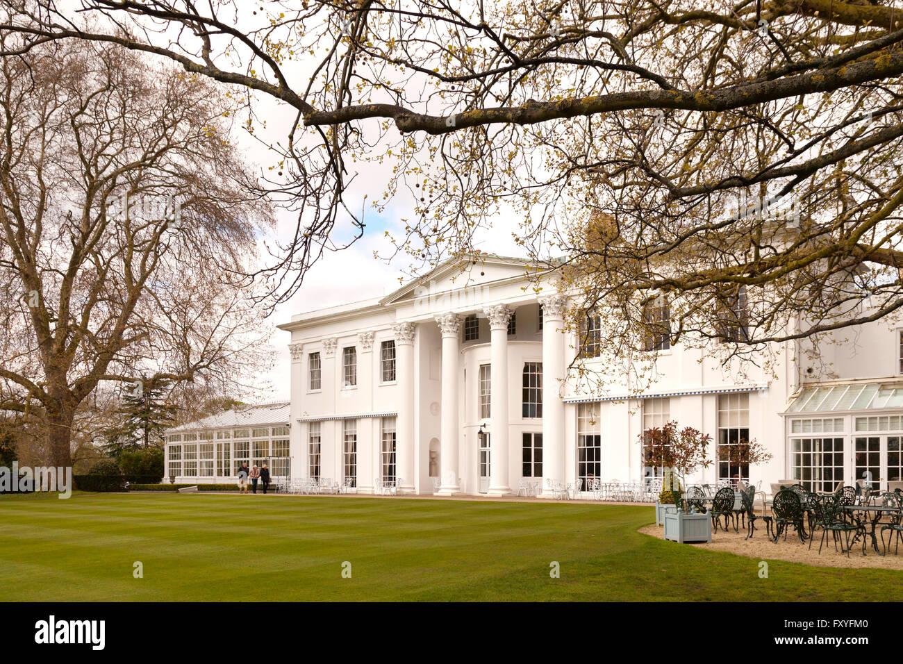 The exclusive Hurlingham Club buildings, Fulham, London UK - Stock Image