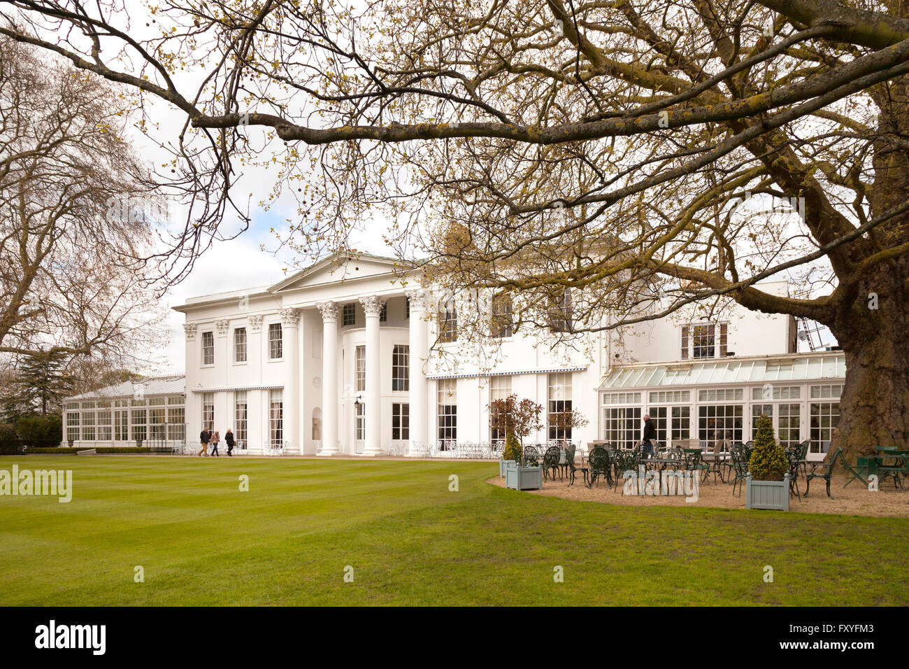 The Hurlingham Club, an exclusive sports club in Fulham, London UK - Stock Image