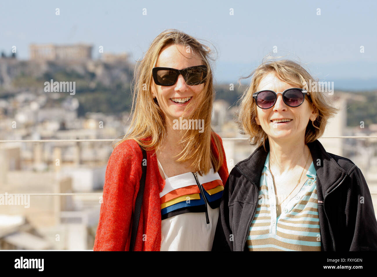 French Directors Delphine(L) and  Muriel Coulin pose for the photographers at the French Instirute during the 17th - Stock Image
