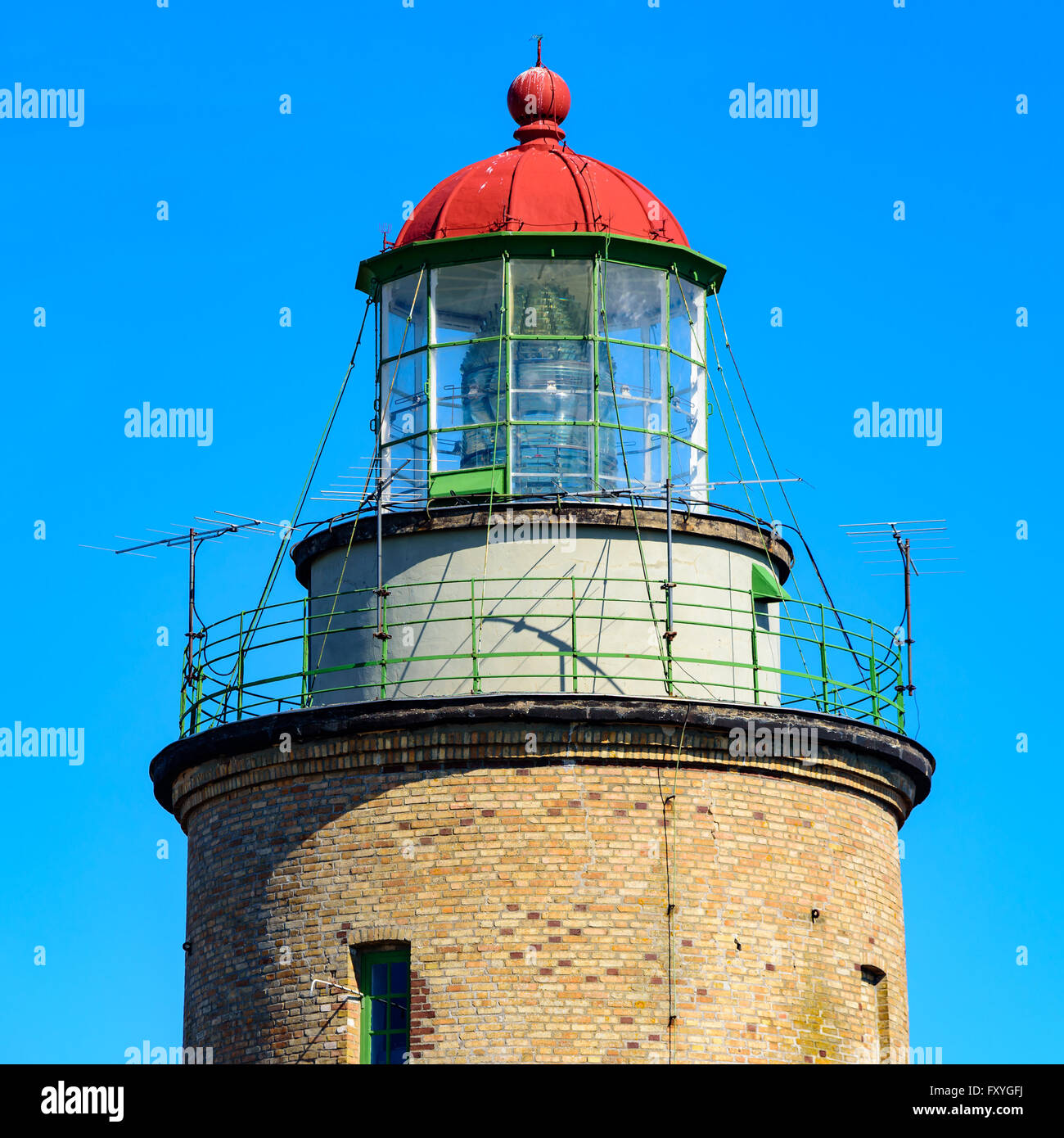 Falsterbo, Sweden - April 11, 2016: Falsterbo lighthouse as seen from the southwest on a sunny spring day. - Stock Image