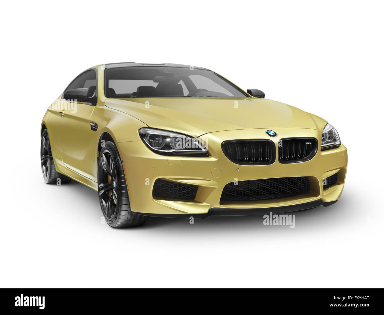 2015 BMW M6, gold, coupe luxury car - Stock Image