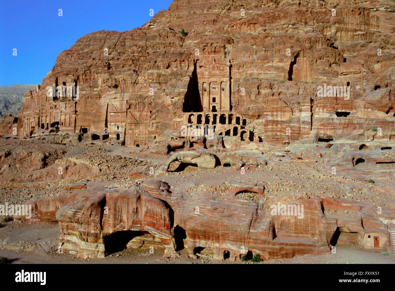 The Royal Tombs, Petra, UNESCOP World Heritage Site, Jordan Stock Photo