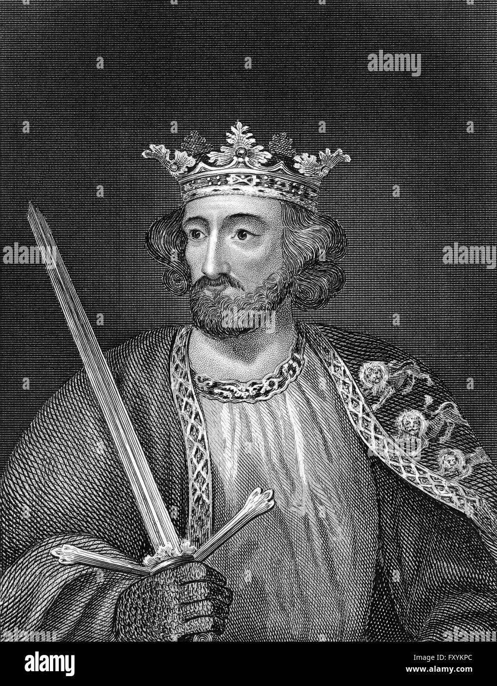 Edward I or Edward Longshanks and the Hammer of the Scots, 1239 - 1307, King of England - Stock Image
