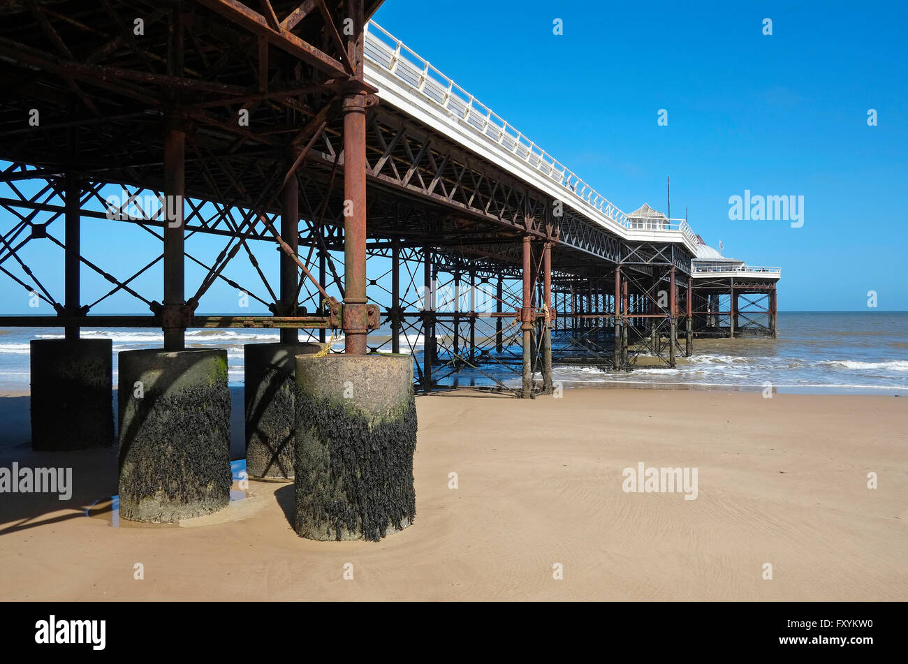 cromer pier, north norfolk, england - Stock Image
