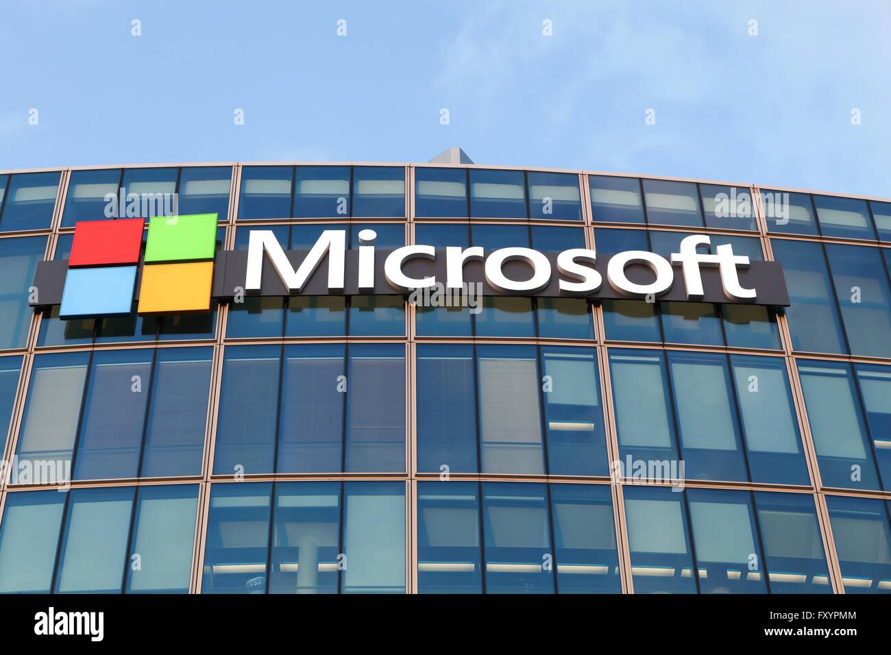 microsoft office company. Microsoft Office Building In Paris, France - Stock Image Company C