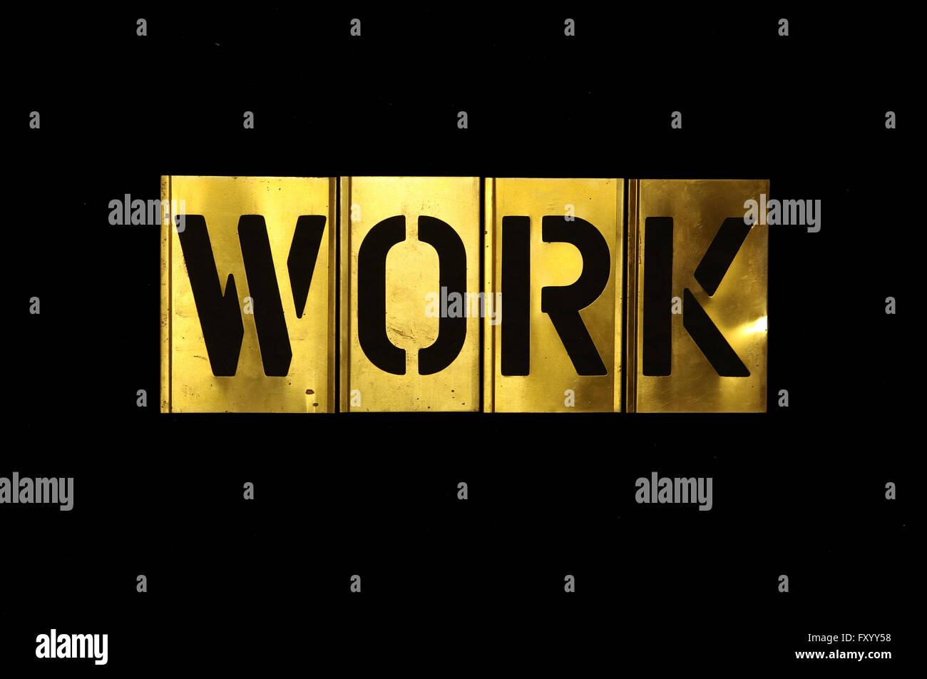 Stencil Military Stencil Work - Stock Image