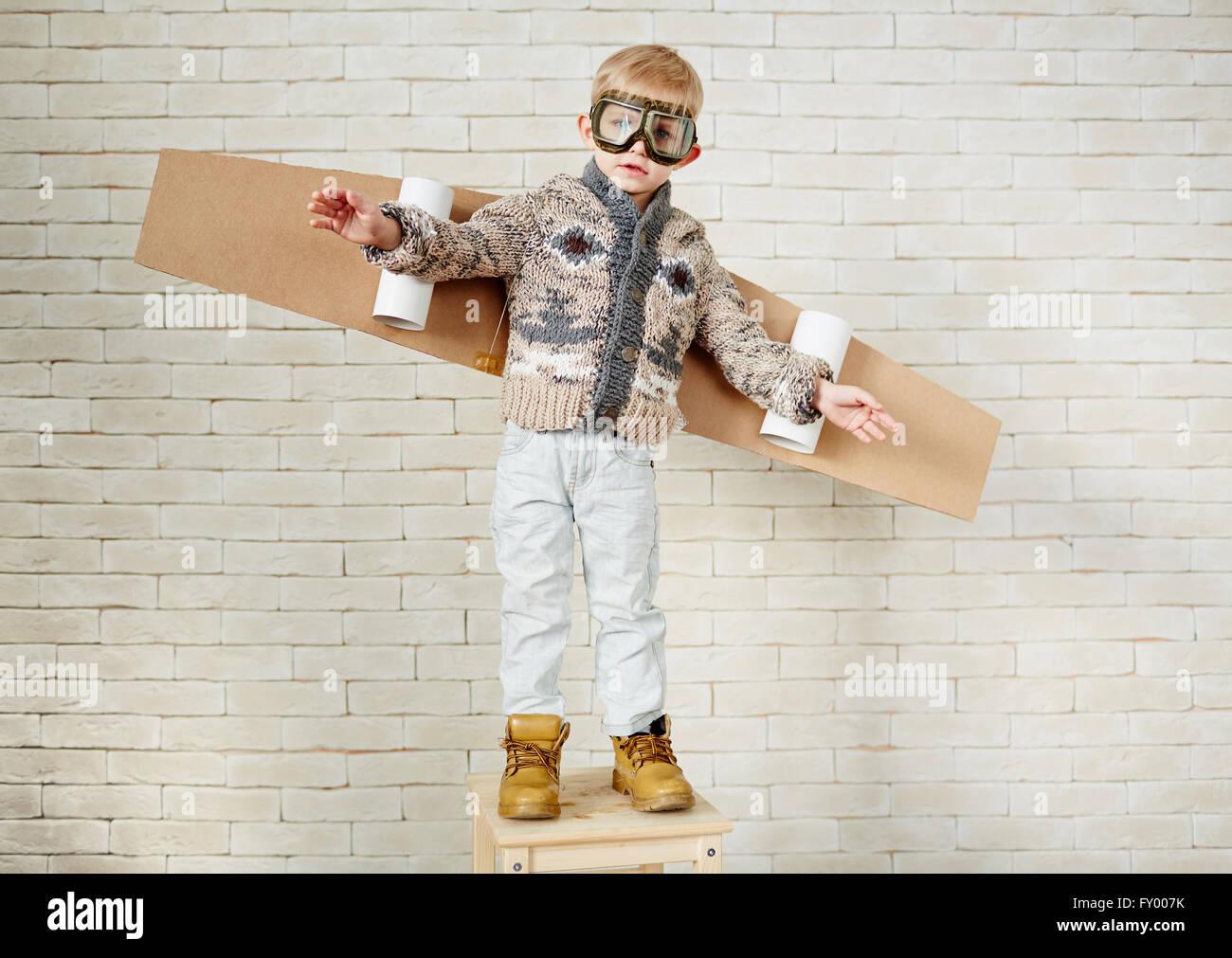 Cute pilot - Stock Image