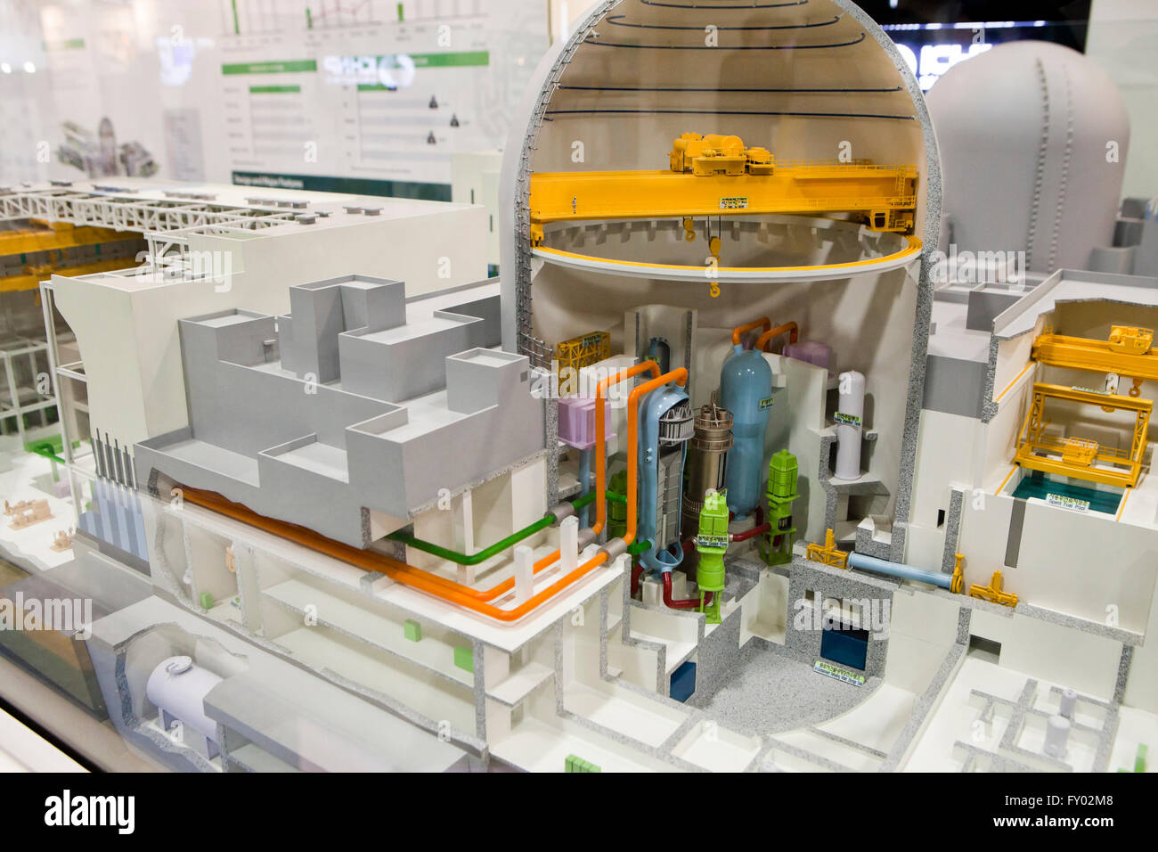 Scale model of Advanced Power Reactor 1400 (APR1400, Nuclear) - Stock Image