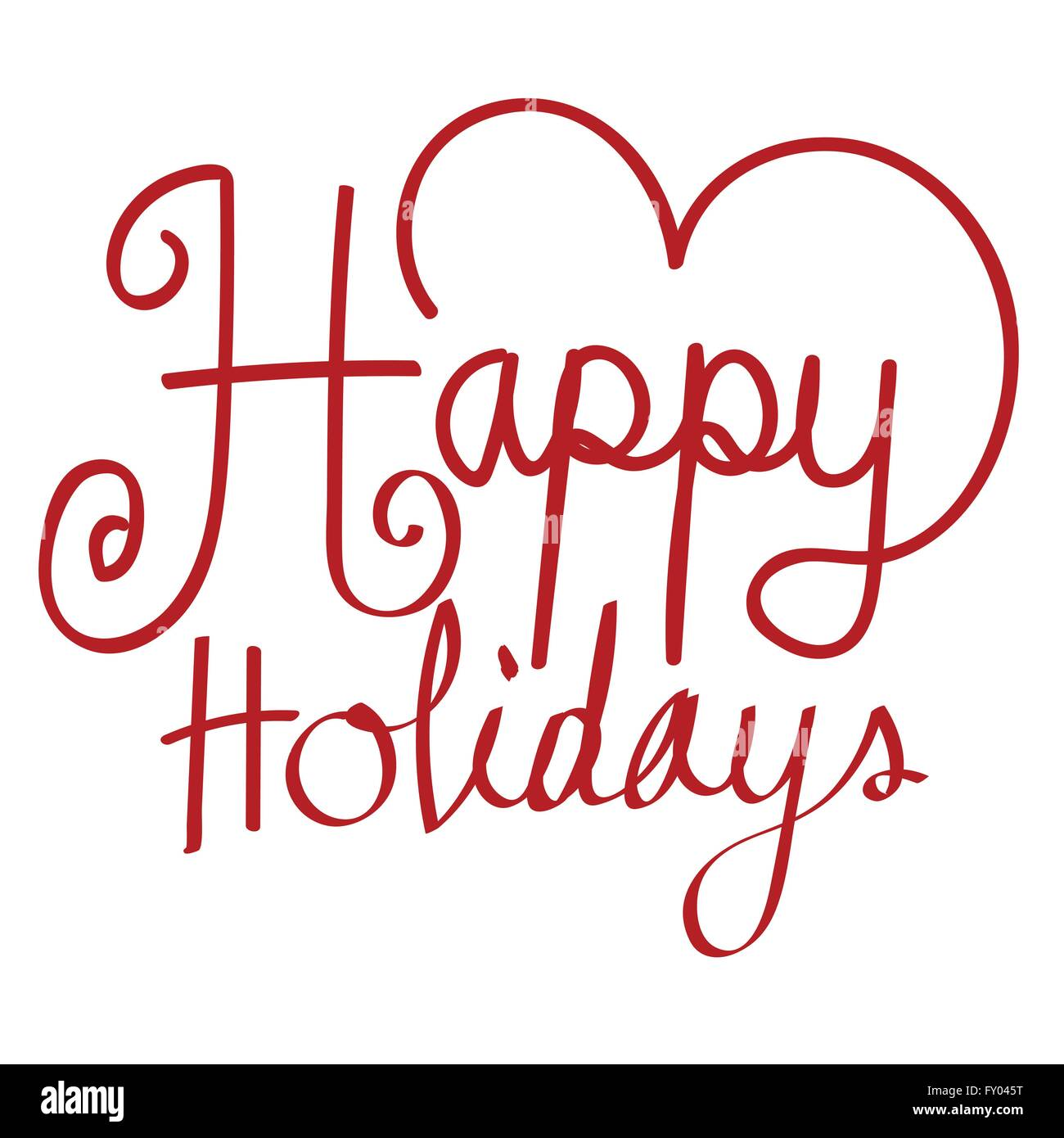 Happy Holidays Vector Illustration For Your Holiday Greeting Card