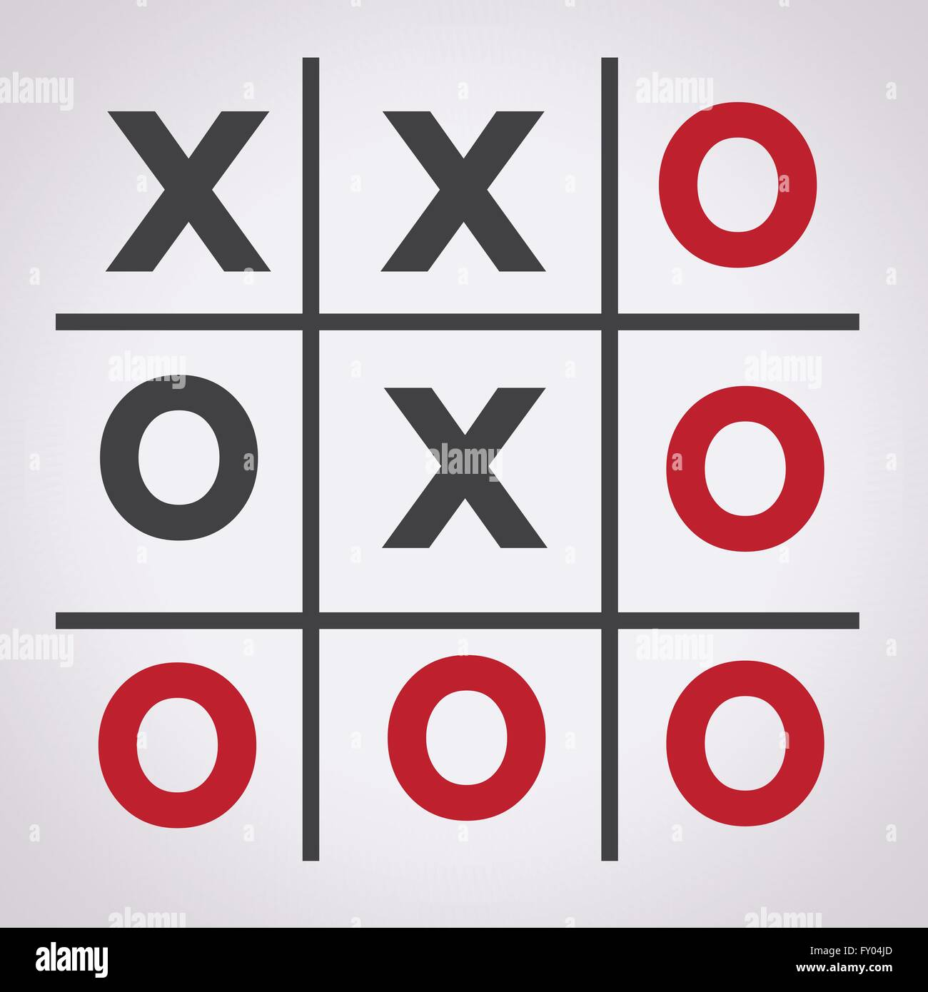 Tic Tac Toe Xo Game Tic Tac Toe X Game O Stock Vector Art