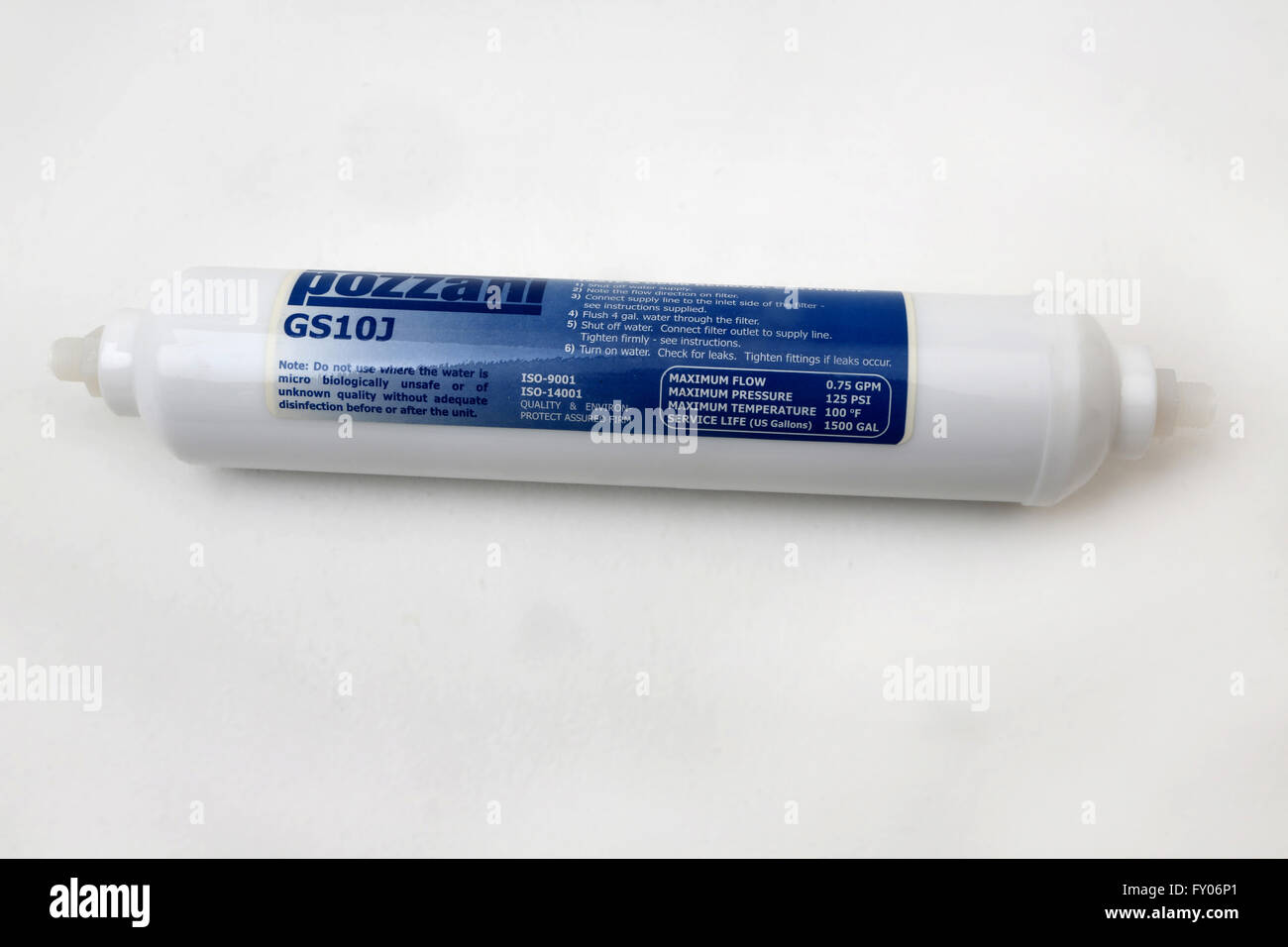 Pozzani compatible water filter cartridge - Stock Image