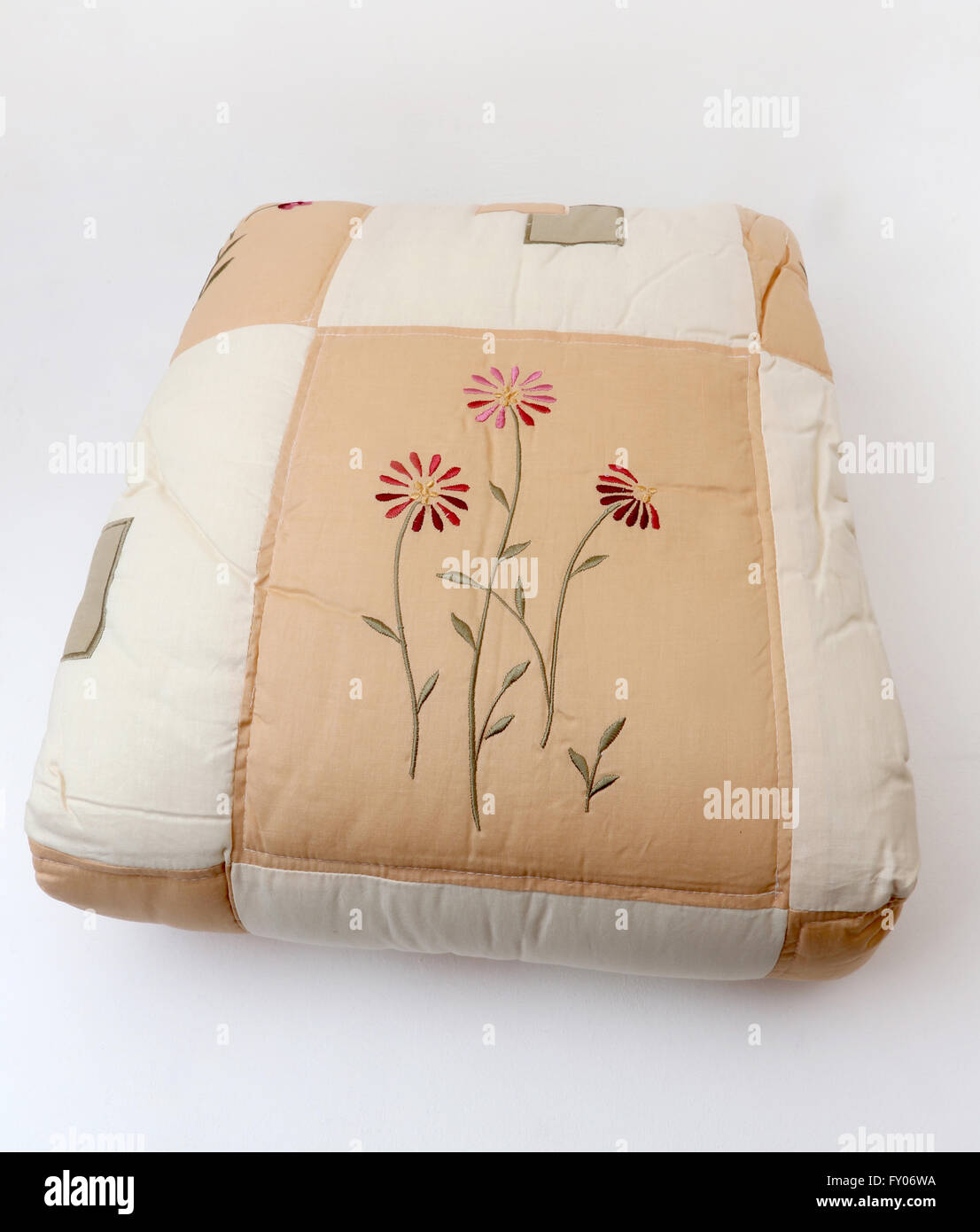 Embroidered Duvet Cover - Stock Image