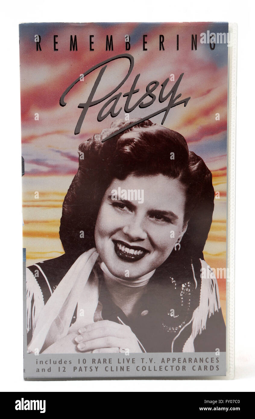 Remembering Patsy Video Cassette Of Patsy Cline - Stock Image