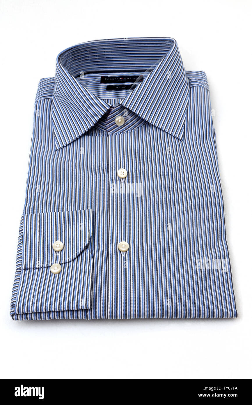 the best attitude ever popular thoughts on Tommy Hilfiger Tailored Fitted Blue Striped Shirt Stock ...