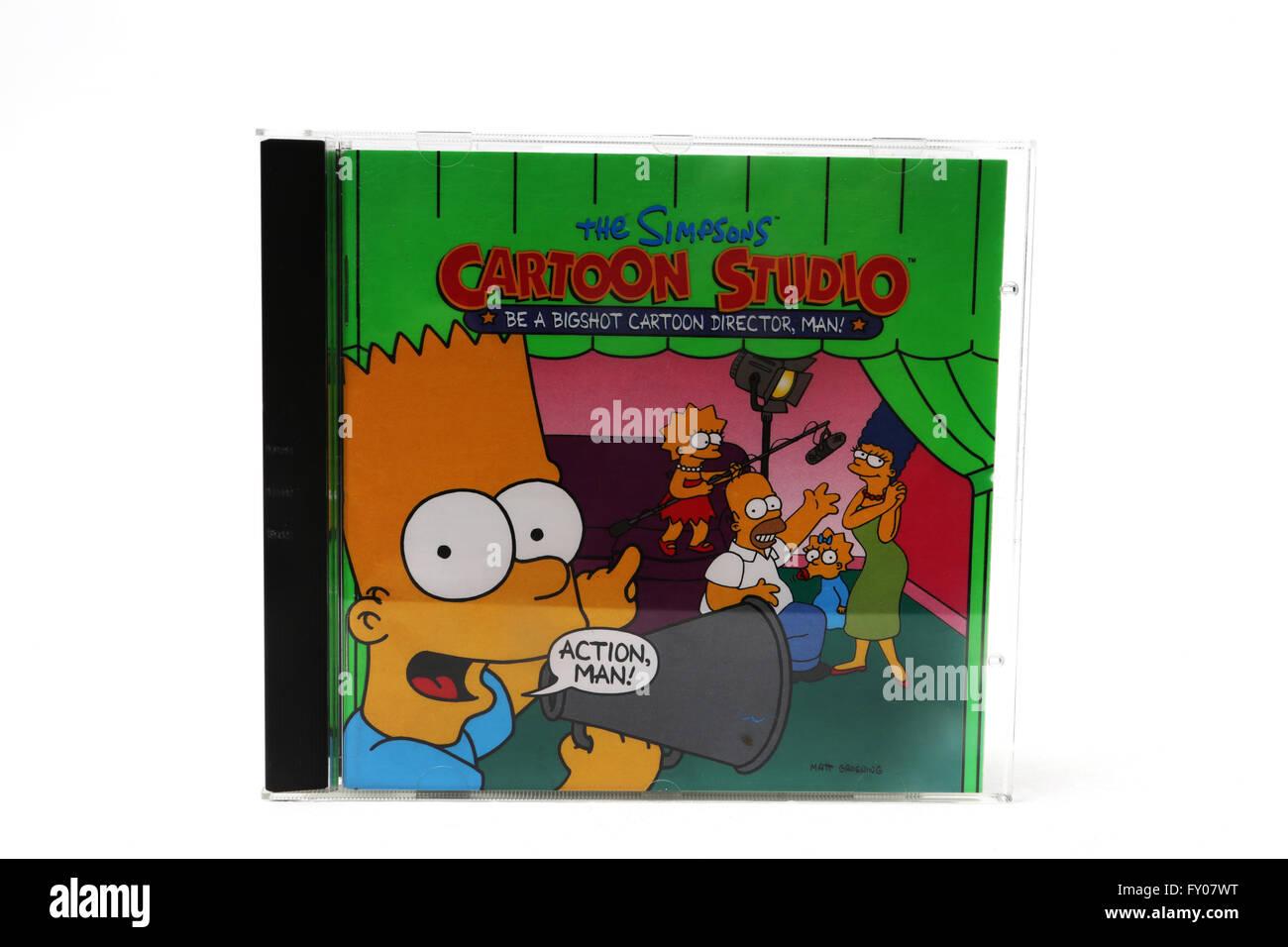 The Simpsons Cartoon Studio Computer Game CD Rom - Stock Image