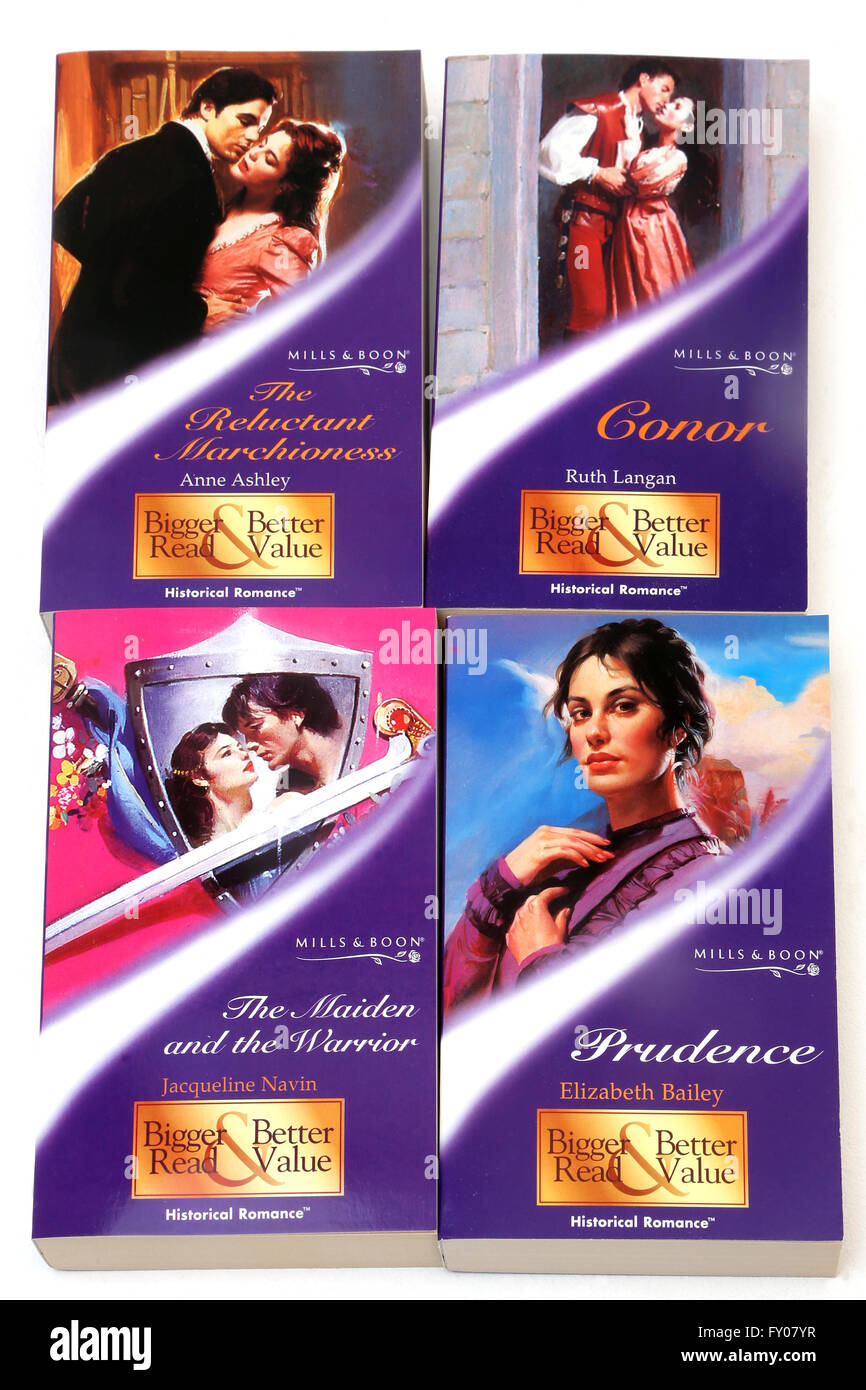 Mills and Boon Historical romance Books - Stock Image