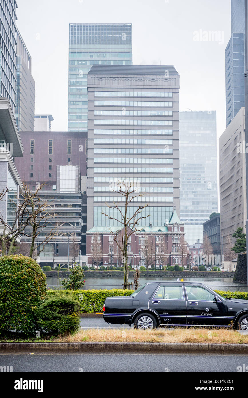 Tokyo Bankers Association Building in Marunouchi commercial dsitrict of Chiyoda special ward, Tokyo city, Japan - Stock Image