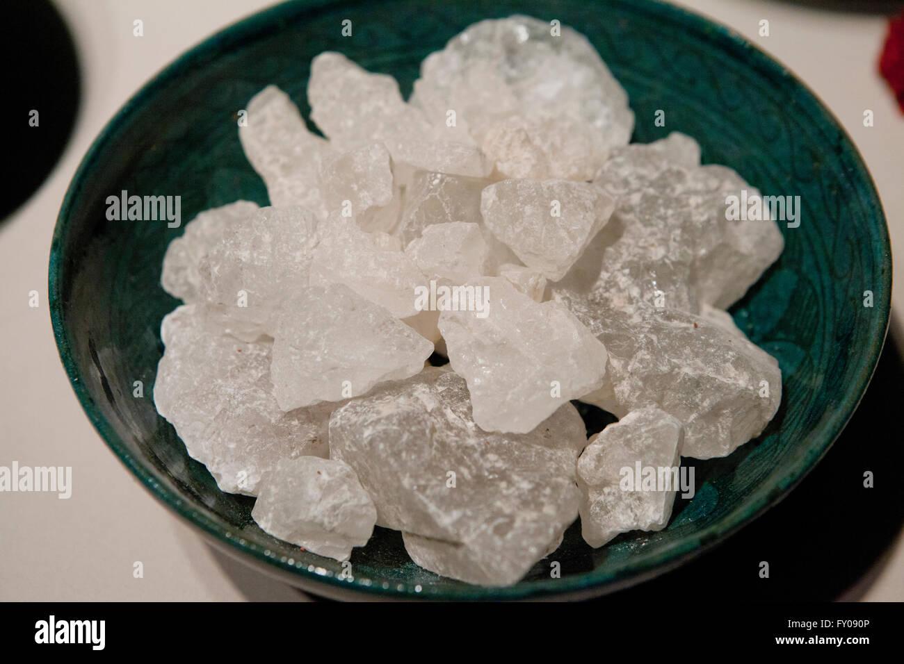 Ammonium alum (Ammonium aluminium sulfate) crystals - Stock Image