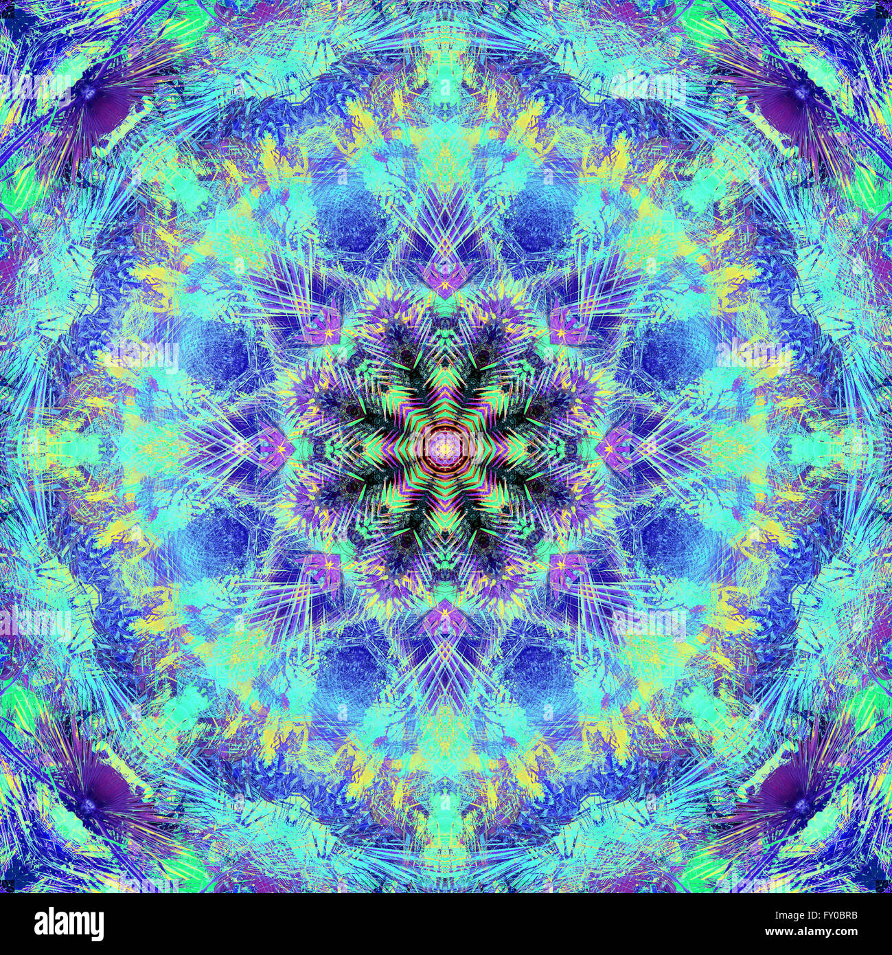 Abstract mandala picture - Stock Image