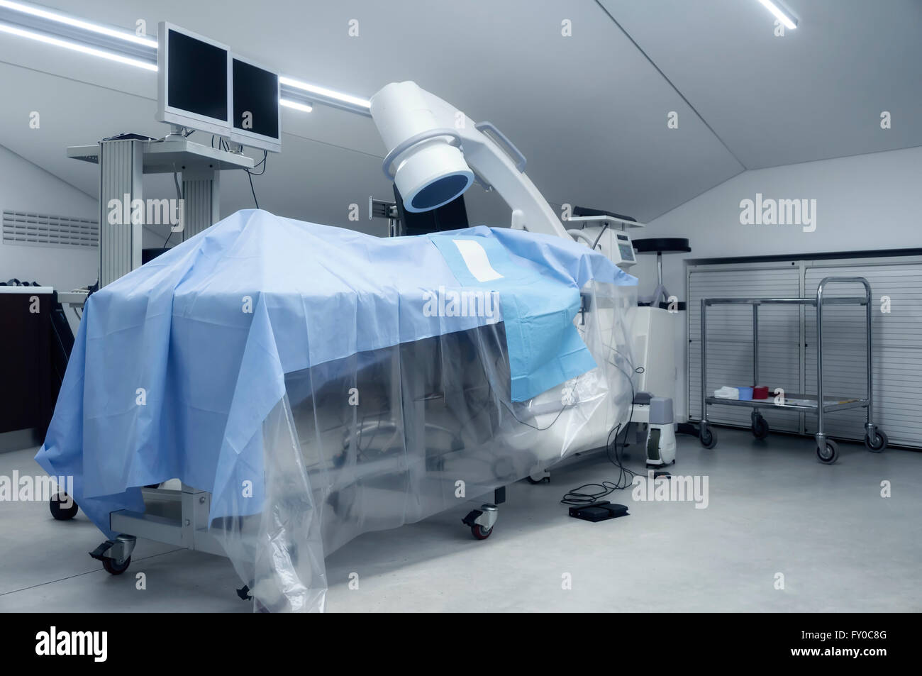 diagnostic equipment in operating room - Stock Image