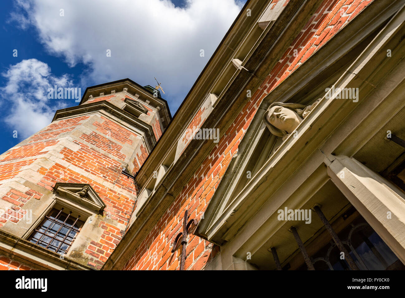 Details from the Bath House or Royal Hunting Lodge, Frederiksborg Castle, Denmark - Stock Image