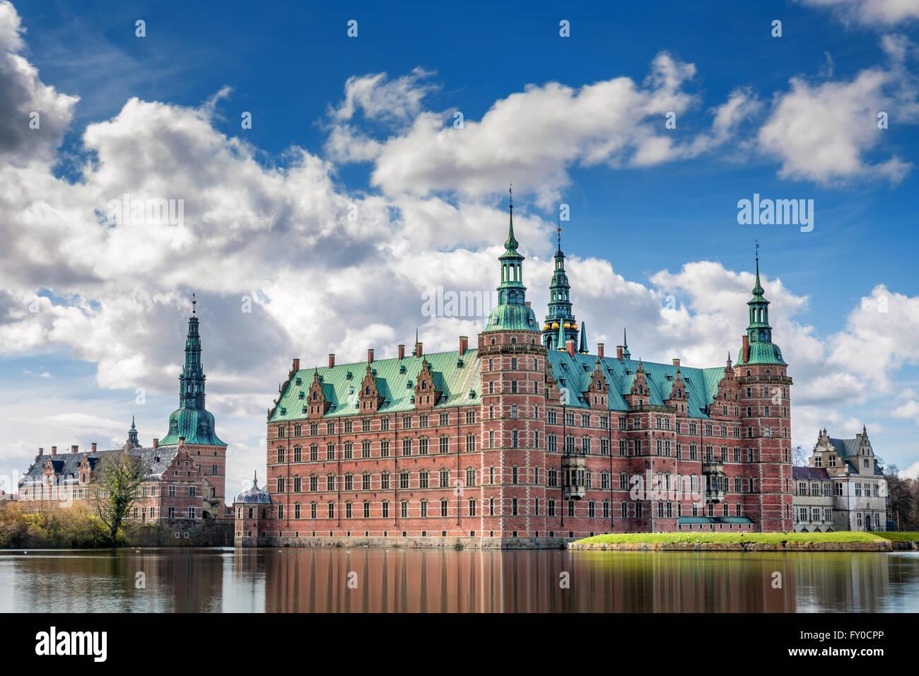 Frederiksborg Castle, Hillerød, Denmark - Stock Image