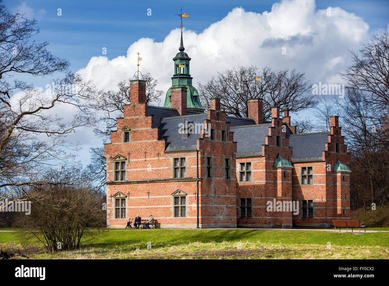 Bath House or Royal Hunting Lodge, Frederiksborg Castle, Denmark - Stock Image