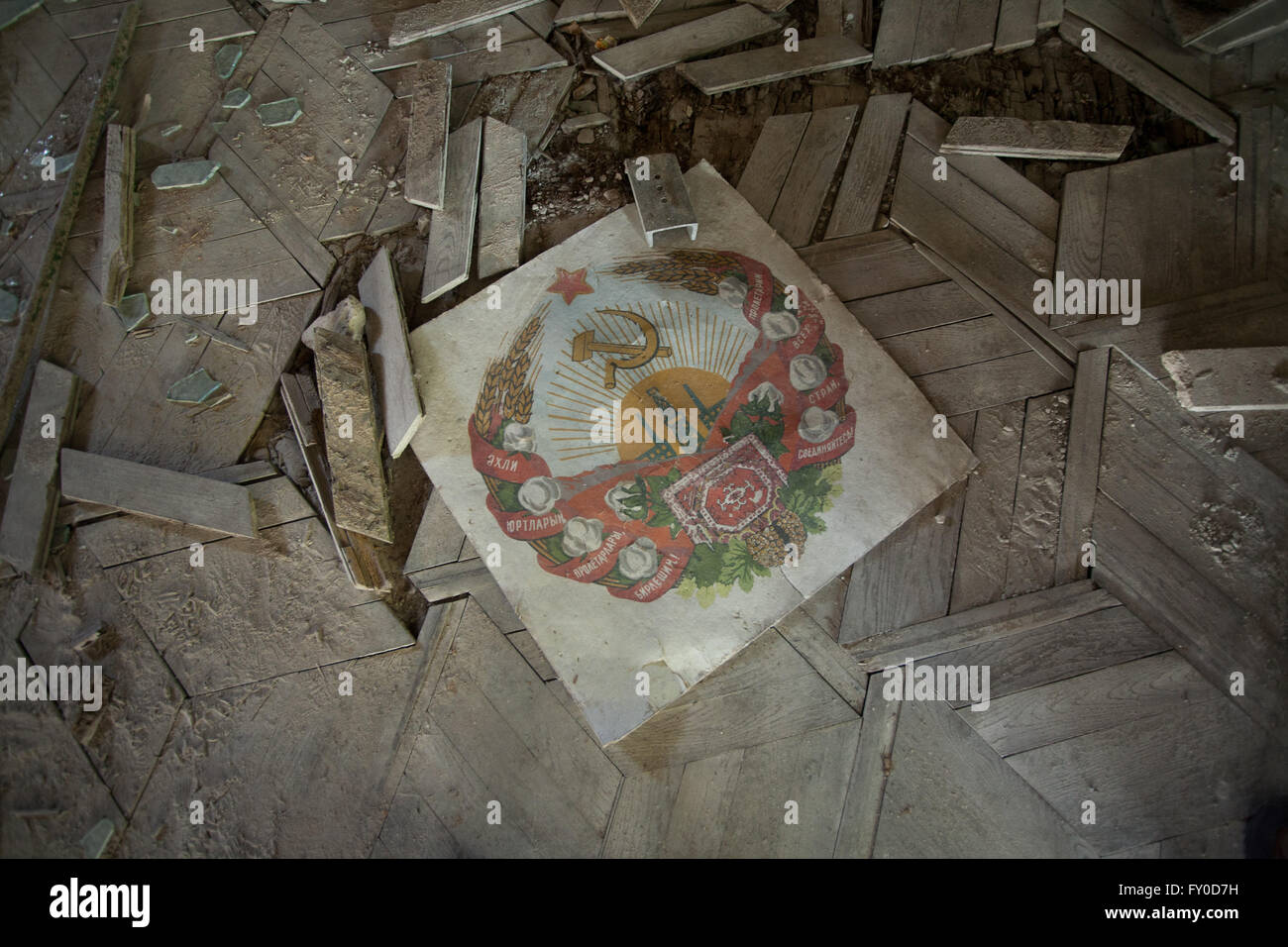Pripyat, the town adjacent to Chernobyl where the majority of casualties - Stock Image