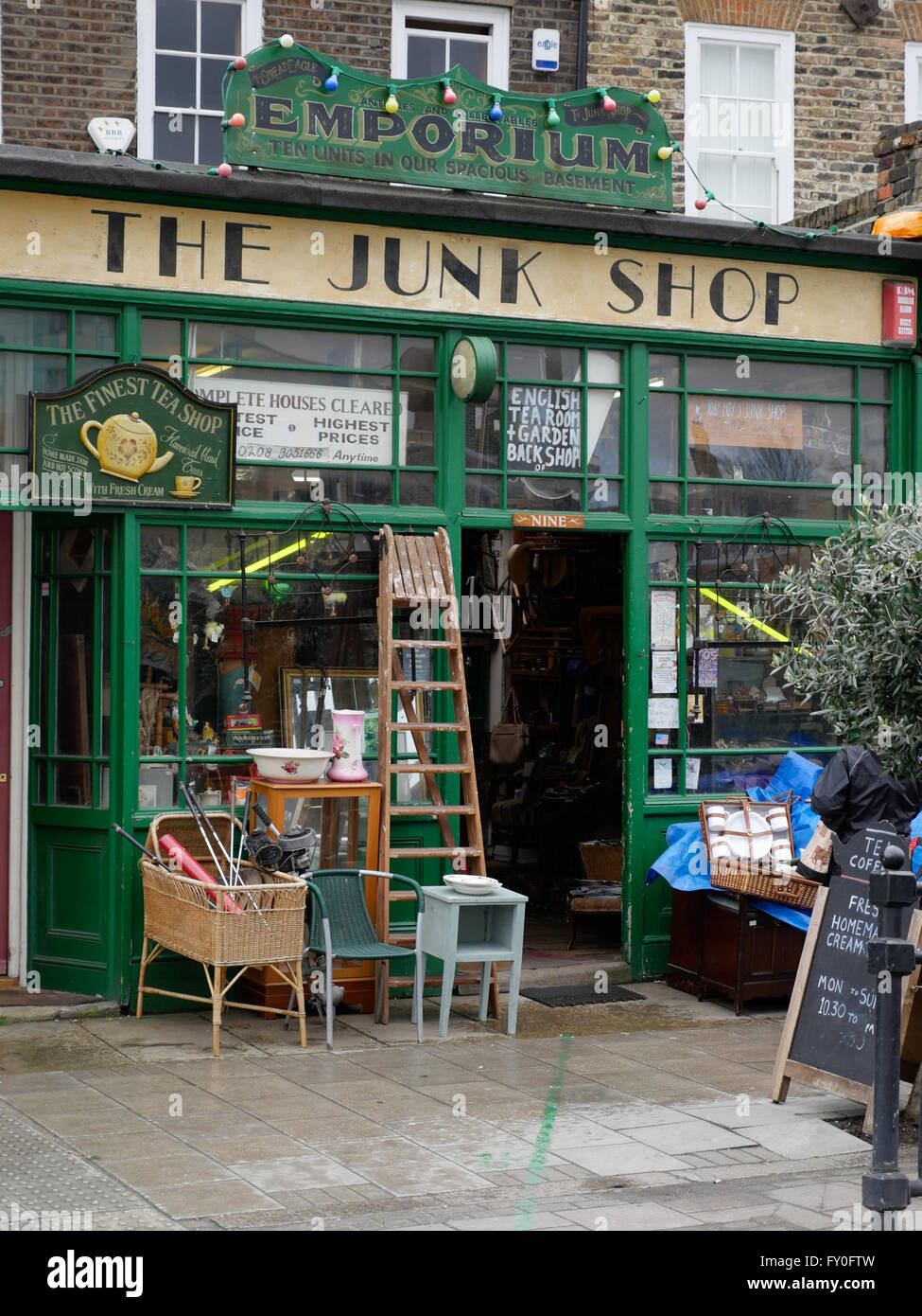 Junk shop in Greenwhich London UK - Stock Image