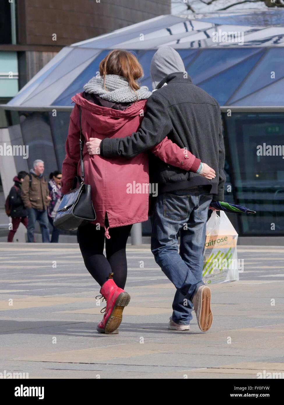A couple taking a walk in Greenwich.London UK - Stock Image