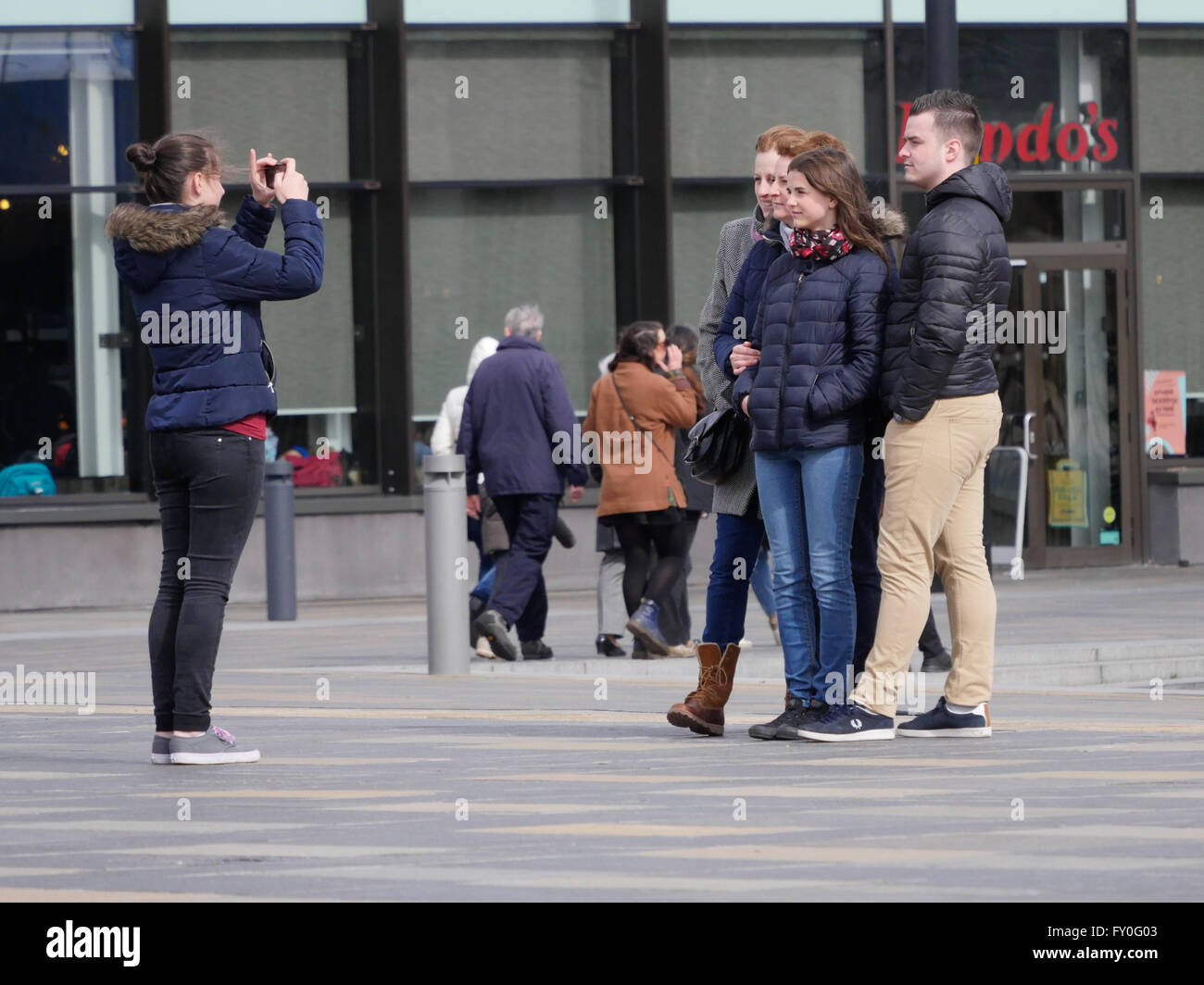 Tourists in Greenwich London UK - Stock Image