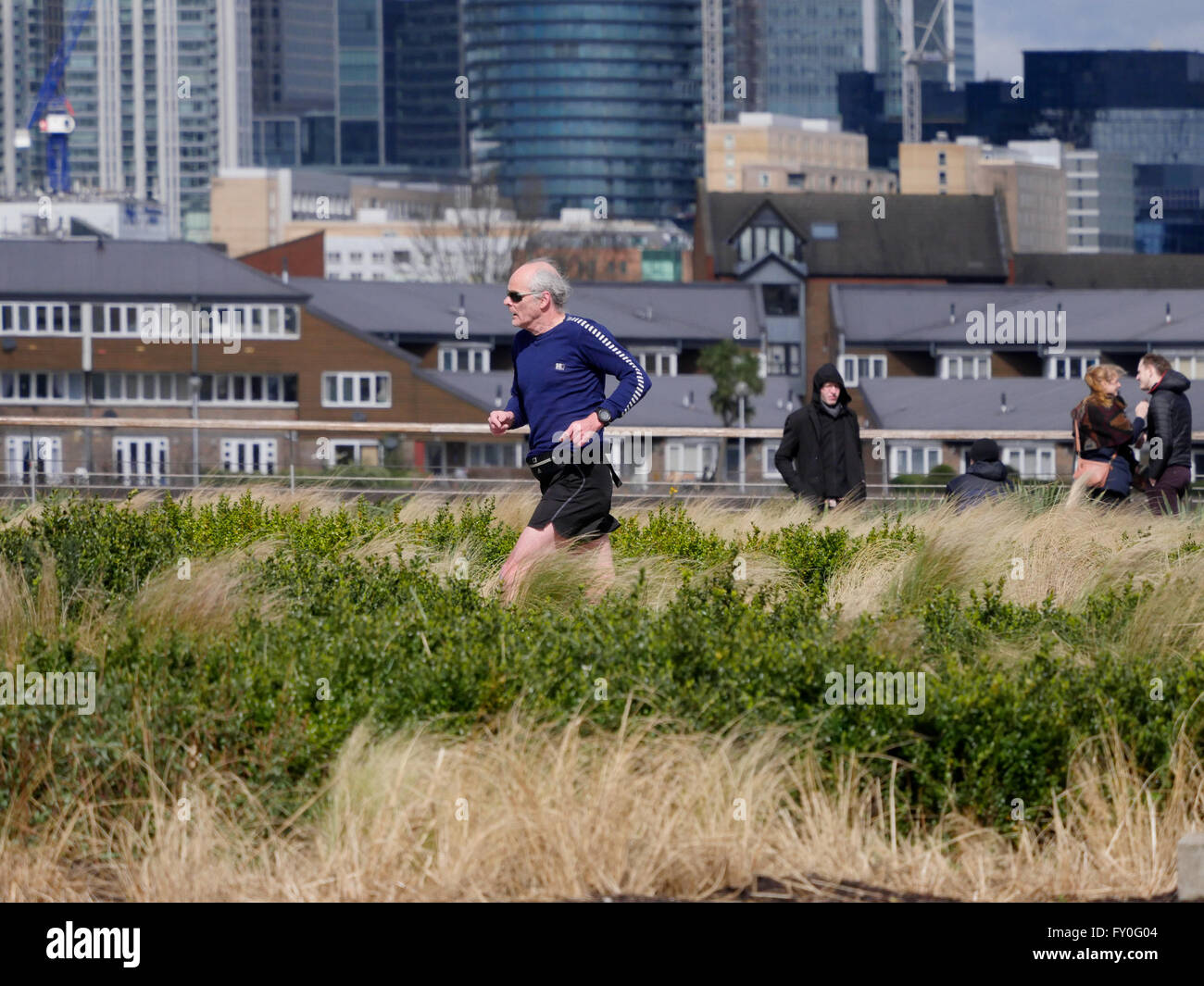 A jogger  in Greenwich London - Stock Image