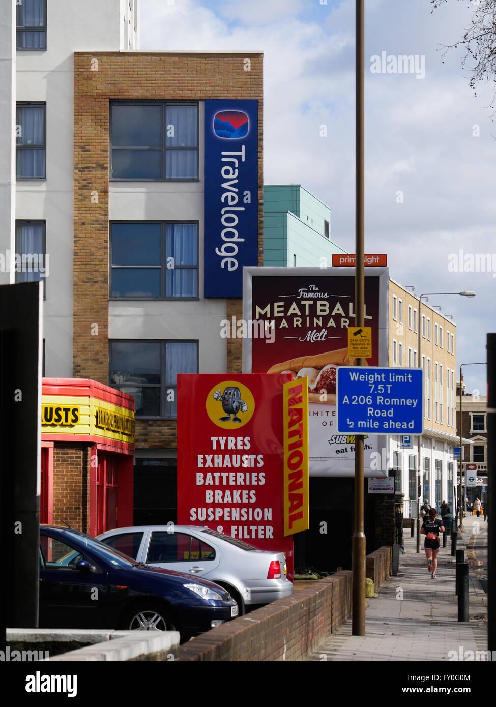 Greenwich High Street London UK - Stock Image