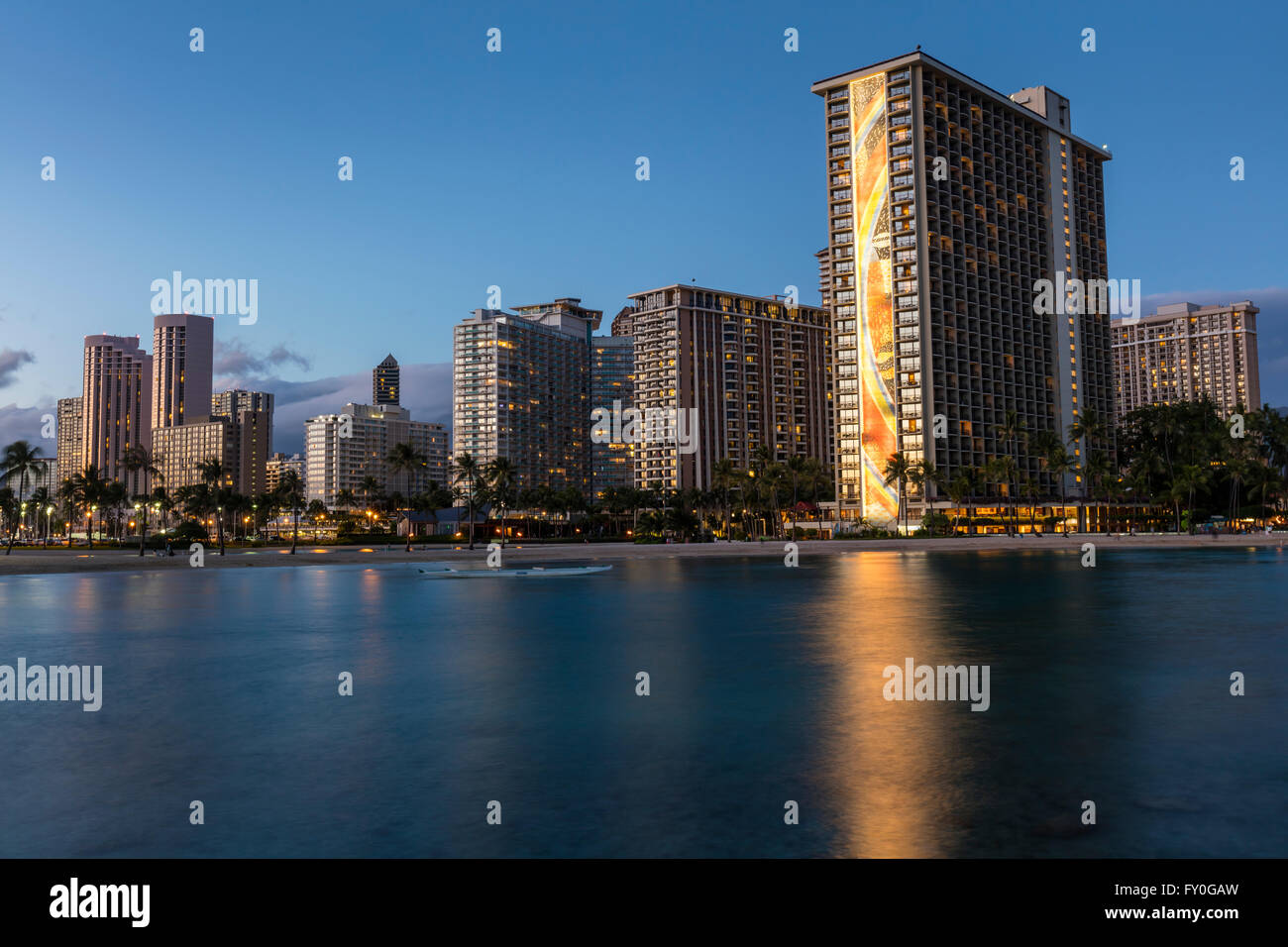 A View Of The Hilton Hawaiian Village Waikiki Beach Resort