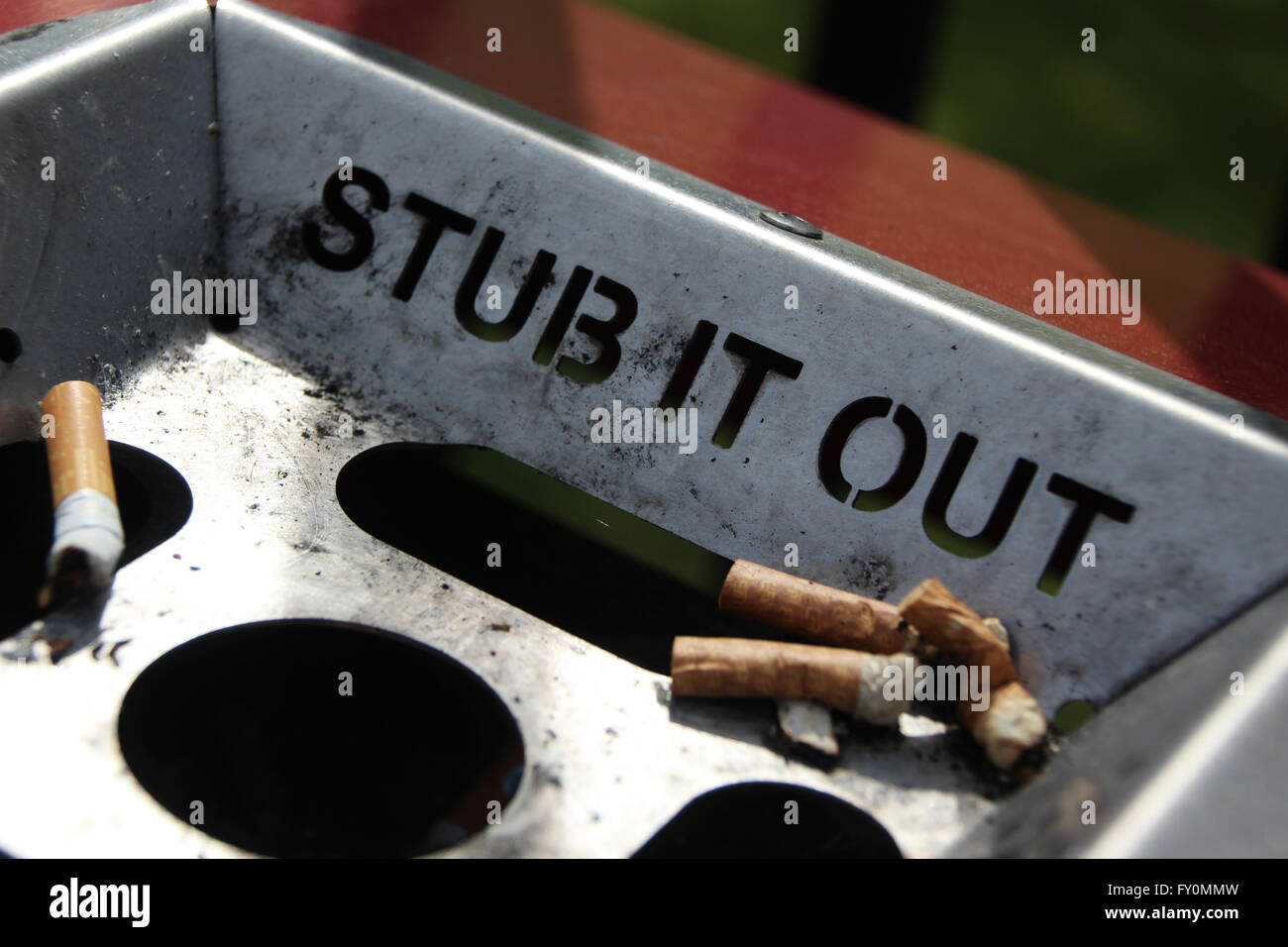 Stub it out - Stock Image