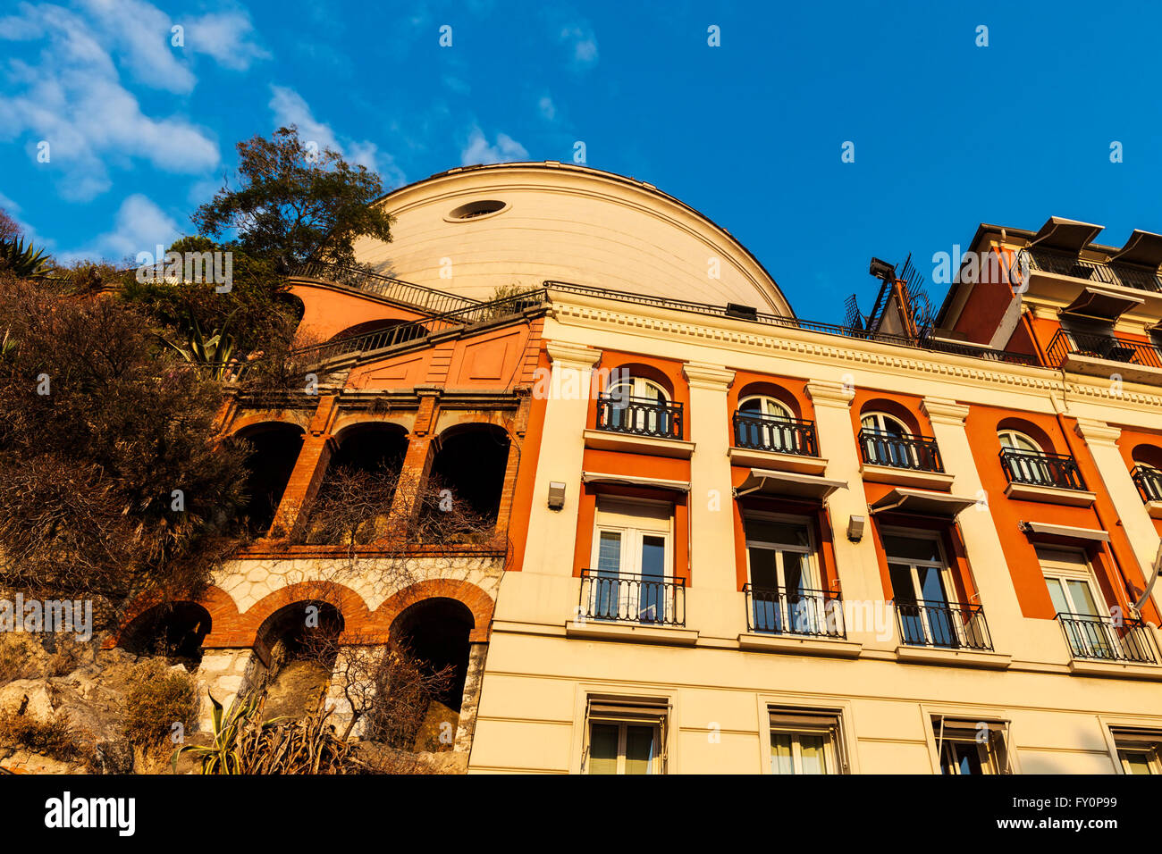 Viewpoint in Nice - Old Town of th city - Stock Image