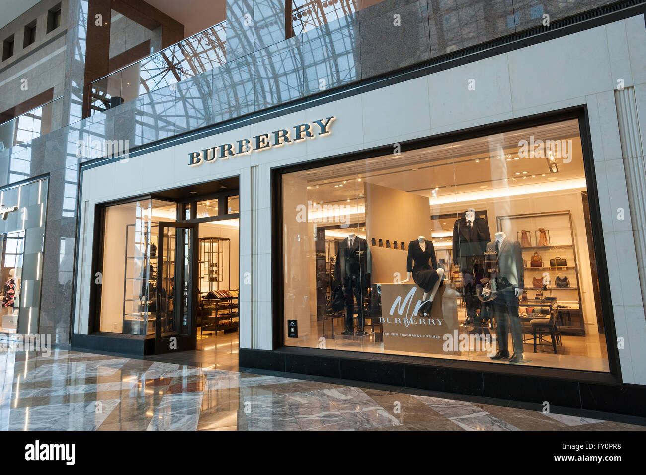 A Burberry Store In The Brookfield Place Mall In New York On Sunday Stock Photo 102665452 Alamy